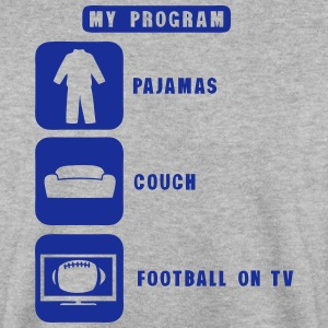 football tv program pajamas couch quote Hoodies & Sweatshirts - Men's Sweatshirt