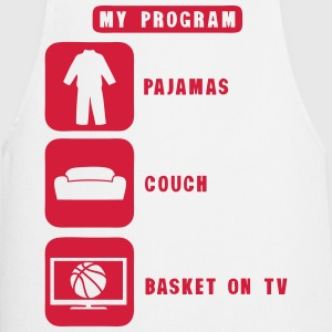 basketball tv program pajamas couch quote 2602  Aprons - Cooking Apron