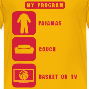 basketball tv program pajamas couch quote 2602 Shirts - Teenage Premium T-Shirt