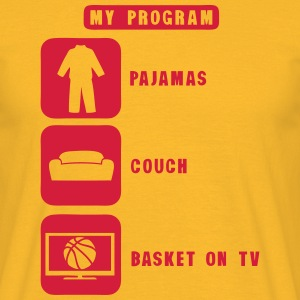 basketball tv program pajamas couch 2602 Tee shirts - T-shirt Homme