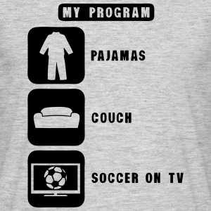 soccer football tv program pajamas couch Camisetas - Camiseta hombre