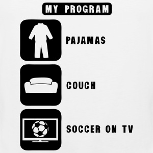 soccer tv program pajamas couch quote Sports wear - Men's Premium Tank Top