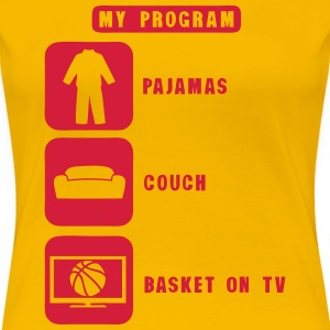 basketball tv program pajamas couch 2602 Camisetas - Camiseta premium mujer