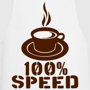 100 speed coffee cup quote  Aprons - Cooking Apron