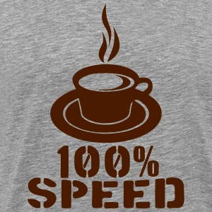 100 speed tasse cafe coffee cup Tee shirts - T-shirt Premium Homme