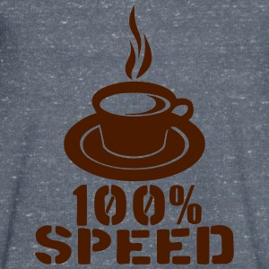 100 speed tasse cafe coffee cup Tee shirts - T-shirt Homme col V