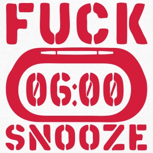 clock fuck snooze T-Shirts - Men's V-Neck T-Shirt
