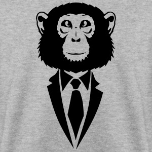monkey tie suit _2502 Hoodies & Sweatshirts - Men's Sweatshirt
