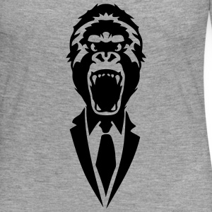 gorilla tie suit 2502 Long Sleeve Shirts - Women's Premium Longsleeve Shirt