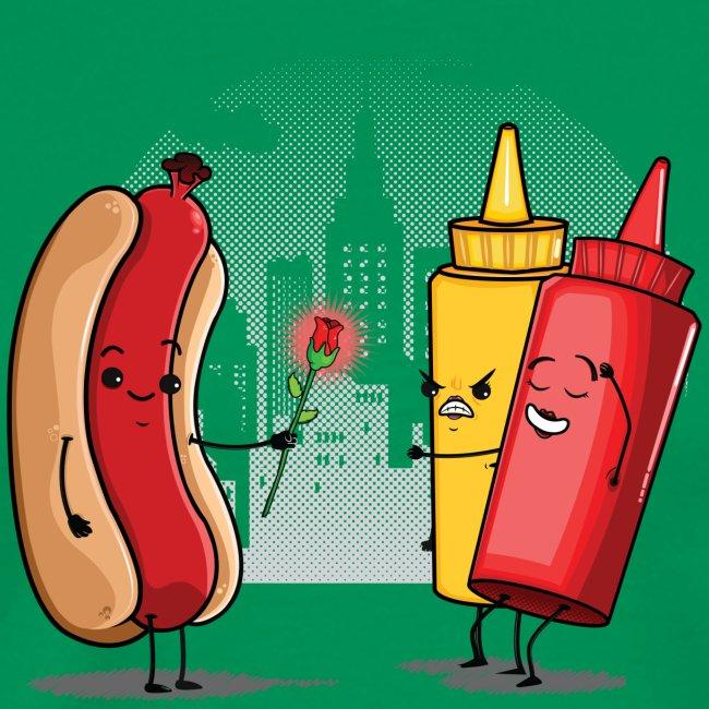 Romance Hot Dog et Ketchup