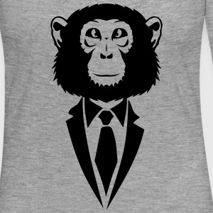 monkey tie suit _2502 Long Sleeve Shirts - Women's Premium Longsleeve Shirt