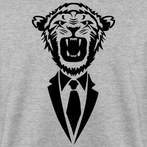 lion tie suit 2502 Hoodies & Sweatshirts - Men's Sweatshirt