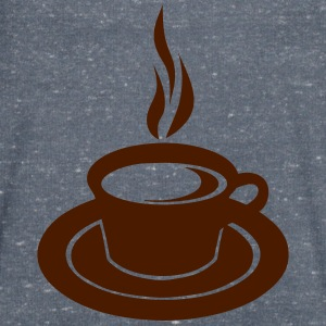 Cup hot smoked coffee 2502 T-Shirts - Men's V-Neck T-Shirt