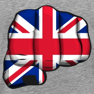 english clenched fist flag poing drapeau Tee shirts - T-shirt Premium Homme