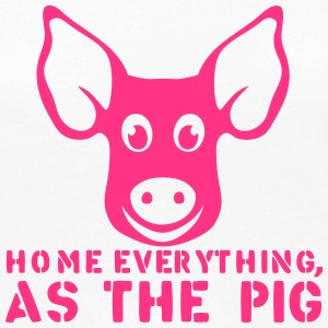 home everything as the pig citation Manches longues - T-shirt manches longues Premium Femme
