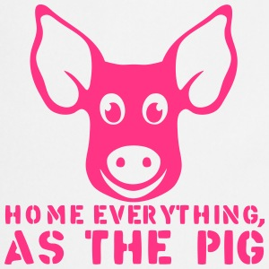 home everything as the pig quote  Aprons - Cooking Apron
