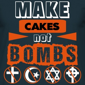 Make Cakes Not Bombs Navy Tee - Men's T-Shirt