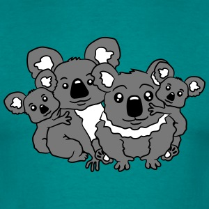 sweet little baby koala cute mamapapa 2 children c T-Shirts - Men's T-Shirt