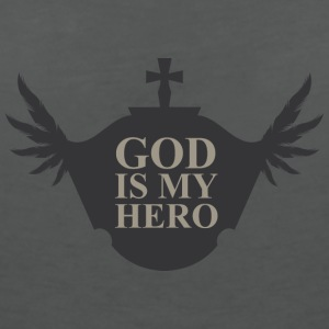 God is my hero T-Shirts - Frauen T-Shirt mit V-Ausschnitt