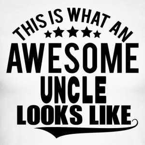 THIS IS WHAT AN AWESOME UNCLE LOOKS LIKE Long sleeve shirts - Men's Long Sleeve Baseball T-Shirt