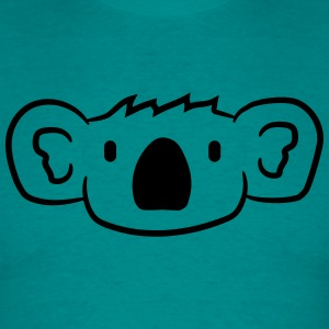 koala face head sweet cute happy comic T-Shirts - Men's T-Shirt