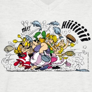 Asterix & Obelix brawl Men's T-Shirt - T-skjorte med V-utsnitt for menn