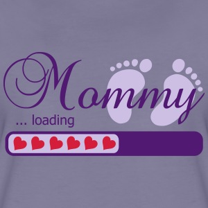 Mommy loading pregnant belly baby bump funny T-Shirts - Frauen Premium T-Shirt