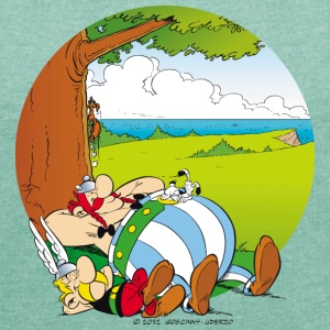 Asterix & Obelix are sleeping Women's T-Shirt - T-shirt med upprullade ärmar dam