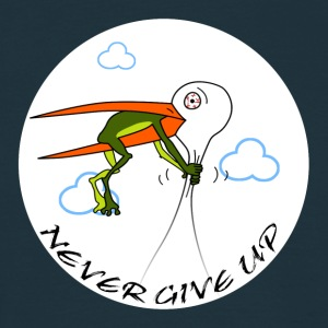 Never Give Up - shirt - Männer T-Shirt