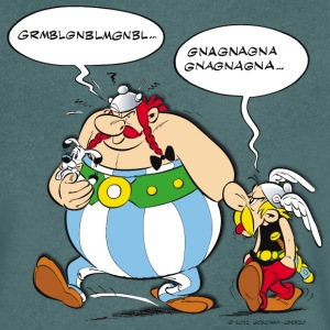 Asterix & Obelix speach bubbles Men's T-Shirt - Maglietta da uomo con scollo a V
