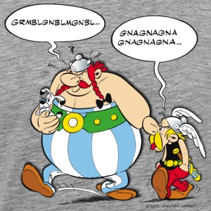 Asterix & Obelix speach bubbles Men's T-Shirt - Mannen Premium T-shirt