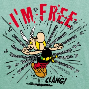 Asterix & Obelix - Asterix 'I'm Free' Women's - Women's T-shirt with rolled up sleeves