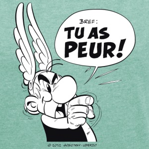 Asterix & Obelix - Asterix 'Tu as peur!' Women's T - Women's T-shirt with rolled up sleeves