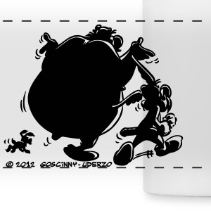 Asterix & Obelix with Idefix shadow Mug - Panoramic Mug