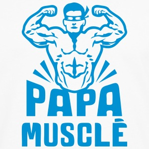papa muscle bodybuilder heros logo 0 Manches longues - T-shirt manches longues Premium Homme