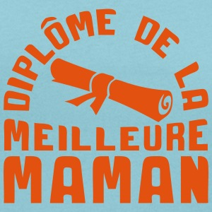 maman diplome meilleure rouleau 1102 Tee shirts - T-shirt col rond U Femme