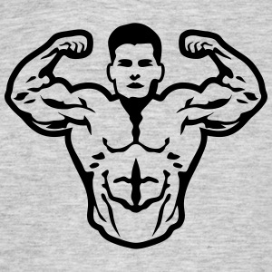 Bodybuilder muscle pose biceps T-Shirts - Men's T-Shirt