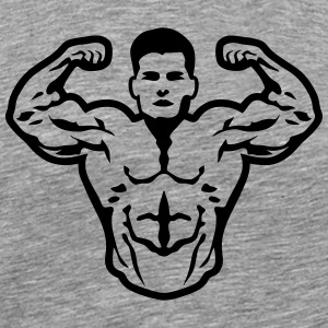 Bodybuilder muscle pose biceps T-Shirts - Men's Premium T-Shirt