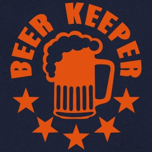keeper beer alcohol humor T-Shirts - Men's V-Neck T-Shirt
