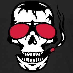 Skull sun cigar smoker glasses Long sleeve shirts - Men's Premium Longsleeve Shirt