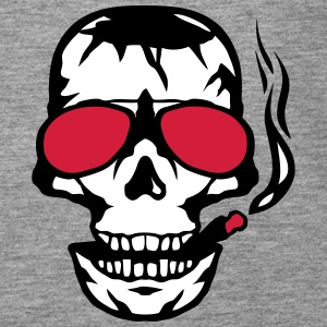 Skull sun cigar smoker glasses Tops - Women's Premium Tank Top