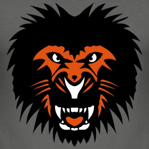 Lion beast animal head 902 T-Shirts - Men's Slim Fit T-Shirt