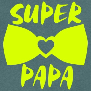 super papa noeud papillon 802 Tee shirts - T-shirt Homme col V