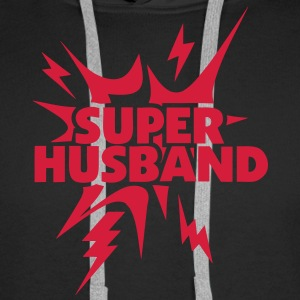 super husband Lightning thunder 28 Hoodies & Sweatshirts - Men's Premium Hoodie