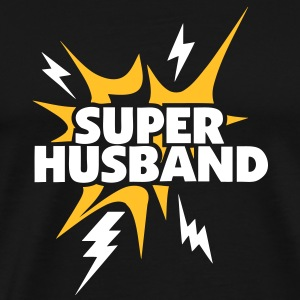 super husband Lightning thunder 80 T-Shirts - Men's Premium T-Shirt