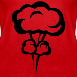Explosion mushroom nuclear drawing 33 Tops - Women's Premium Tank Top