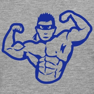 bodybuilder masque heros muscle 4 bodybu Manches longues - T-shirt manches longues Premium Homme