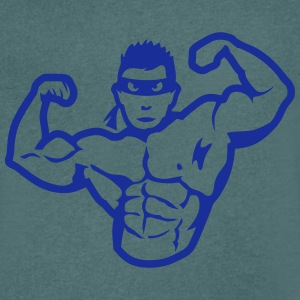 Bodybuilder mask muscular hero T-Shirts - Men's V-Neck T-Shirt