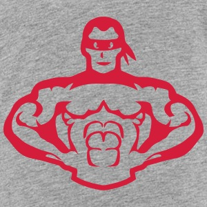Bodybuilder mask muscular hero 5 Shirts - Kids' Premium T-Shirt