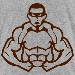 Bodybuilder mask heros muscle muscular Shirts - Kids' Premium T-Shirt